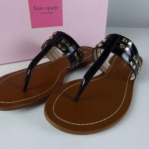 Kate Spade NY Carol Patent Leather Sandals NIB